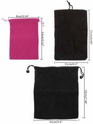 I rifornimenti del gioco da tavolo del pacchetto del Drawstring dei monili dei dadi del sacchetto di Flannelette per la mazza carda la protezione