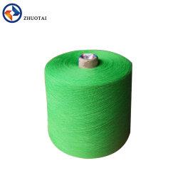21S/32S 100 % polyester filé anneau recycler Dope tricot de fils teints