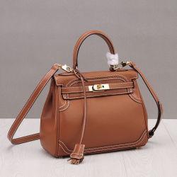 Commerce de gros de la Dentelle style sac Kelly authentique sac à main en cuir italien ordinaire avec cadenas Emg5604
