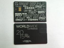 Importer des articles cadeaux de la Chine lecteur Flash USB de carte en aluminium noir 1GO-64GO
