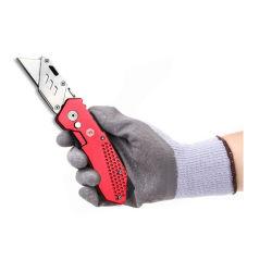 折る小型の実用的なナイフ-ホルスター、クイックチェンジの刃、ロックデザインおよび軽量アルミニウムボディが付いている頑丈なボックスカッター