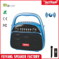 Nova chegada MP3 FM Multimedia mochila prático PA Dual Áudio recarregável de 3 Polegadas Alto-falante
