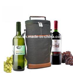 Champagne vino bolso para el paquete de regalo con hombreras