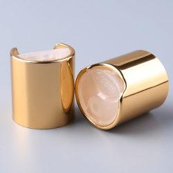 Aluminio Tapa de Disco de Oro para los cosméticos, 24/410 Presione la tapa superior