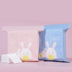 Absorbente almohadillas de algodón 100% puro removedor de maquillaje