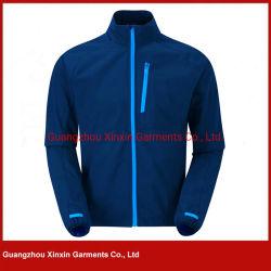 OEM Custom Impression de logo glissière bleue Varsity veste Softshell hommes pour le ressort (J420)