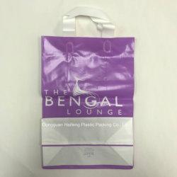 Биоразлагаемые мягкие ручки пластиковый пакет печать HDPE сумку для пластмассовых HF1124