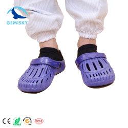 働くことのための帯電防止革網のタイプスリップ防止PU/PVC唯一ESDのクリーンルームの靴