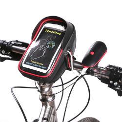 Sacchetto di riciclaggio del manubrio della bicicletta della bici di caso del motociclo del telefono del supporto del sacchetto della parte anteriore del blocco per grafici impermeabile del tubo