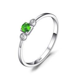 Joyas y Piedras preciosas piedras preciosas y semi/Diopsido Ring/925 Joyas de Plata Esterlina