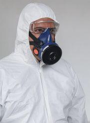 Unisexe peu coûteux à capuchon de protection jetables Tyvek blanc des combinaisons jetables Dupon PPE Coverall papier en plastique jetables de la sécurité de la peinture des peintres Coverall