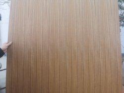 L'impiallacciatura ricondizionata naturale di /MDF EV del compensato di immaginazione del teck ha affrontato il legno