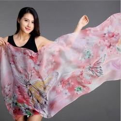 Floral personalizado largo Pañuelo de seda