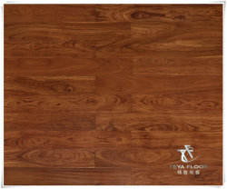 African Padauk Engineered Wood Bodenbelag, Natur Farbe