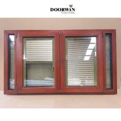 Standardgrößen-Entwurfs-Teakholz-Holz gestaltet hölzernes französisches antikes Glasflügelfenster Windows der Öffnungs-3