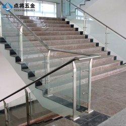 Escada decorativos corrimão de vidro para o Prédio de Escritórios