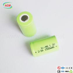 Großhandels-nachladbare Batterie Ni-MH-1.2V 2/3A 1500mAh