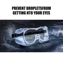 Beschermende brillen van de Oogglazen van de Bescherming van het Masker van het Oog van de Isolatie van de Beschermende bril van de Mist van de Glazen van de veiligheid de Beschermende Anti