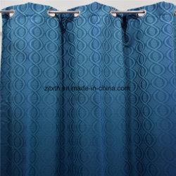 ホテルのためのヨーロッパ式ポリエステルジャカードファブリック飾り布の贅沢なカーテン