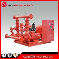 Strumentazione di rifornimento idrico di lotta antincendio con la pompa diesel ed elettrica