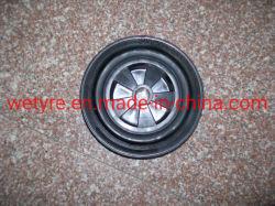 El polvo de caucho Inflatless aro de plástico de alta capacidad de carga de la rueda de caucho sólido (200x50mm)
