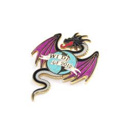 Оптовая торговля сувенирной индивидуального логотипа металла с мягкими эмаль
