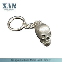 Личности 3D-старинной Серебряный Сплав цинка череп цепочки ключей