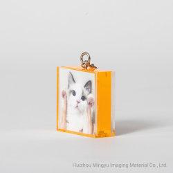 2*2 mooie acrylFrames Ornamnet met Keychain voor de Gift van de Baby