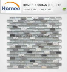 Mezclar la pared de color pizarra de metal de mosaico Mosaico tira de cristal