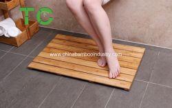 Bambú natural el cuarto de baño alfombra de la Junta de pato