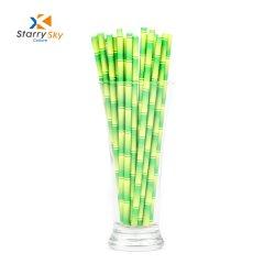 Forme de bambou conçue de pailles de papier / pailles à boire