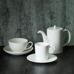 Taza de café de color blanco puro Maceta de cerámica de porcelana tetera cafetera