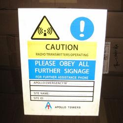 700mm*500mm de plástico reflectante de la señal de advertencia / placa de señal de advertencia