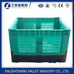 1200*1000 de malha de dobragem de paletes de plástico contentor para alimentos