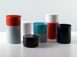 Violet Cylindre Céramique émaillée CANDLE Candle Jar Jar, parfum, bougie Navire, Pot bougie, bougie Conteneur, porte-bougie