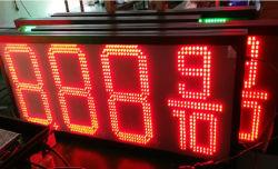 شاشة LED بحجم 10 بوصات/12 بوصة/16 بوصة/18 بوصة/20 بوصة محطة سعر الغاز LED علامة سعر الوقود شاشة LED
