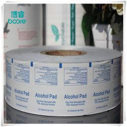 Hochwertige Laminierte Aluminiumfolie/Papier/PE-Folie für Alkoholtupfer, Prep Pad-Verpackung