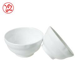 Usine de produits de gros de la résine gris pastel de salle à manger de la vaisselle de la vaisselle bol