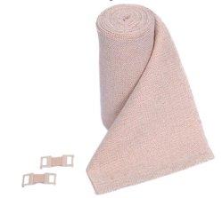 Corto tramo vendaje elástico realizado por el 100% algodón