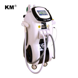 Weifang Km Medical esthétique de l'équipement avec Cavitation RF SHR IPL laser YAG ND