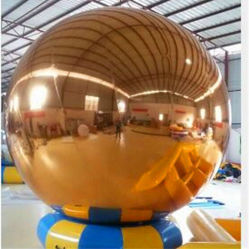 De opblaasbare Gouden Bal van de Spiegel voor toont/Gebeurtenis/Verfraaid/Adverterend