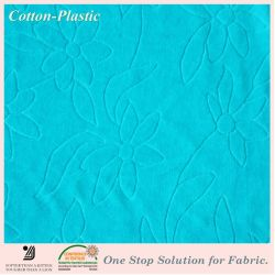 Fashion Garment를 위한 파란 Jacquard Velvet Fabric
