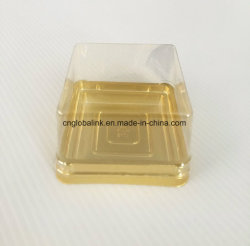 FDA van de Verkoop van de Vervaardiging van het Dienblad van de Doos van de Verpakking van het Dessert van de Cake van de Maan van de Cake van het Huisdier van BOPS PS Beschikbare Plastic Aanbieding