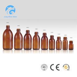 30мл, 50мл, 60m, 75мл, 90мл, 100 мл и 150 мл желтые фармацевтической Medecine стеклянную бутылку для сироп упаковки