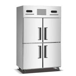 acier inoxydable Smeta 4 portes de cuisine commercial congélateur vertical