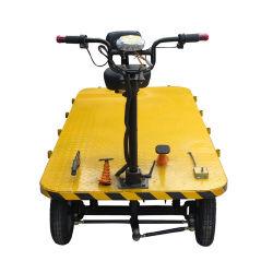 carrello elettrico del carrello della piattaforma dello strumento di trasporto della fabbrica del magazzino di caricamento di spiegamento 800-1000kgs con le rotelle del carrello