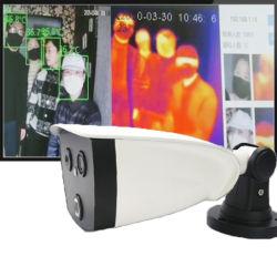 온도 검출기를 가진 몸의 접촉이 없는 디지털 온도계 방문자 온도 스캐너 CCTV 얼굴 인식 열 화상 진찰 사진기