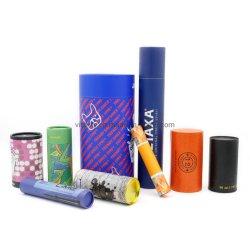 El cartón de embalaje de tubo de rodillo cilíndrico con el logotipo de impresión y embalaje de regalo/TE/comida/Cosmética/Perfume/COPA/Papelería/vino/Essentia /Aceite caja de papel impreso redonda