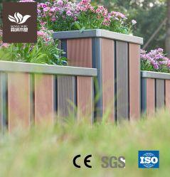 Garten Pflanzgefäß Outdoor WPC Holz Kunststoff-Verbundstoff Aluminiumlegierung Blume Topf