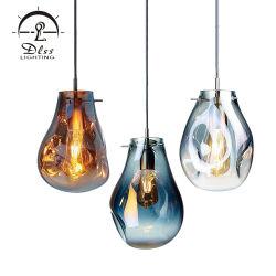 Lampe LED en verre de poignée de commande de fantaisie lampe pendante de l'ombre pour l'hôtel